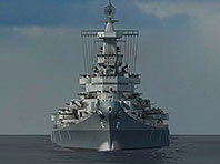 Battleship Missouri 3D screensaver screenshot. Click to enlarge