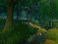 Summer Forest 3D screensaver screenshot. Click to enlarge