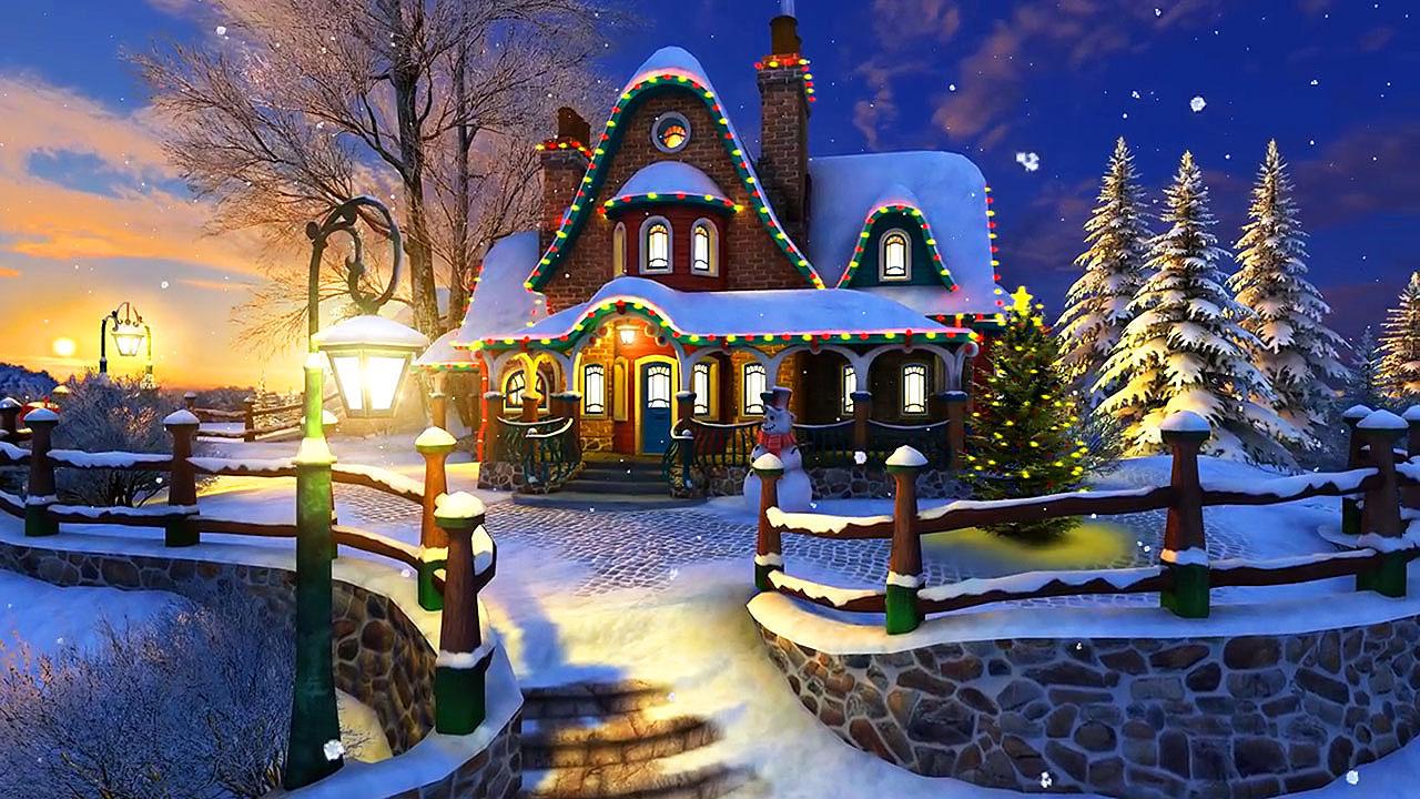 White Christmas 3D screensaver – A home